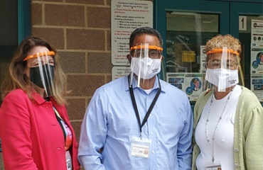 Face shield donation to schools in Providence