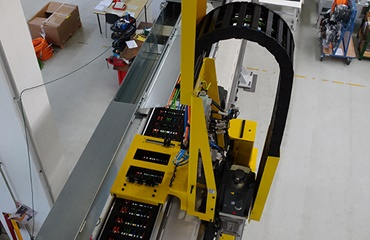 X-axis of the gantry loader